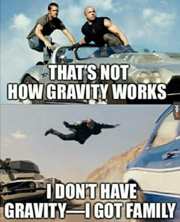 Grawitacja vs rodzina