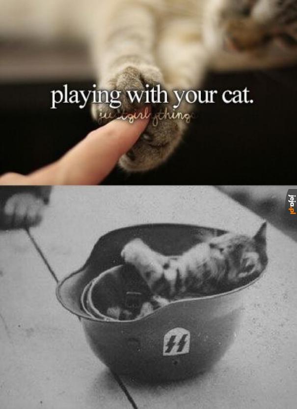 Zabawa z kotkiem