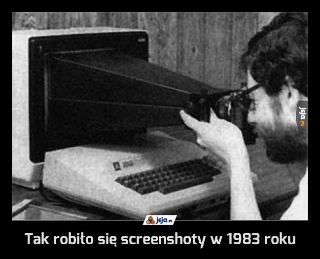 Tak robiło się screenshoty w 1983 roku