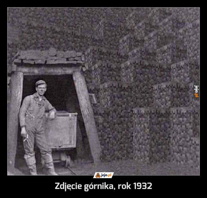 Zdjęcie górnika, rok 1932