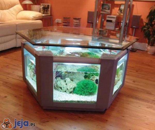 Niesamowity stolik akwariowy
