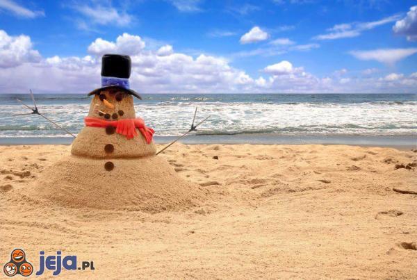 Tegoroczna zima pozwala nam jedynie na piaskowe bałwany