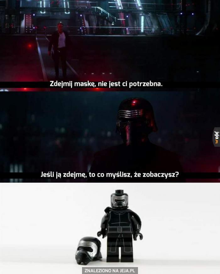 Co Kylo Ren skrywa pod maską?