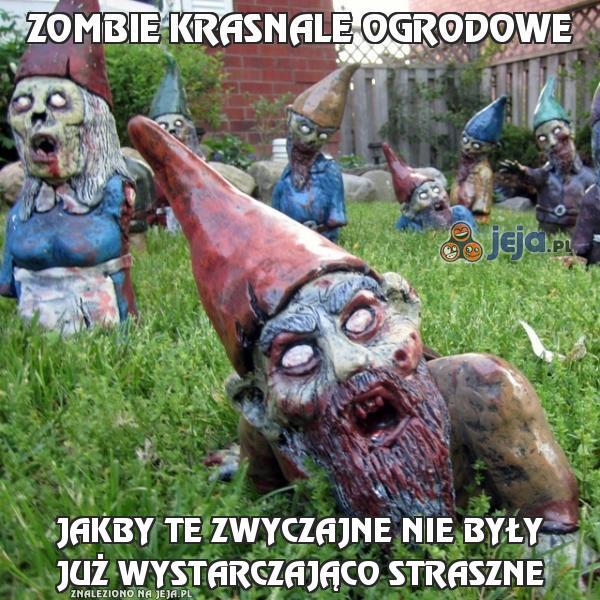 Zombie krasnale ogrodowe