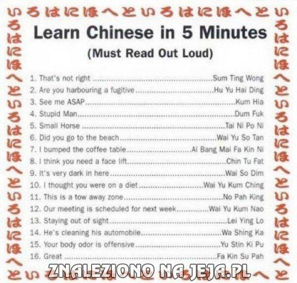 Chiński w 5 min