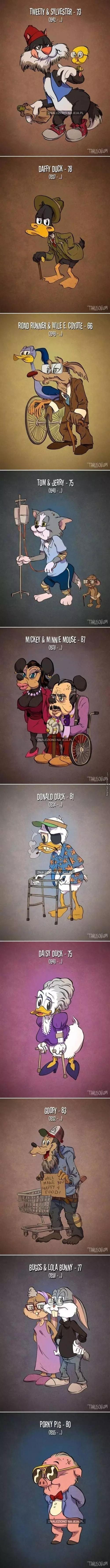 Bohaterowie kreskówek na emeryturze