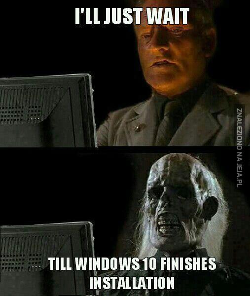 Aktualizowanie do Windowsa 10...