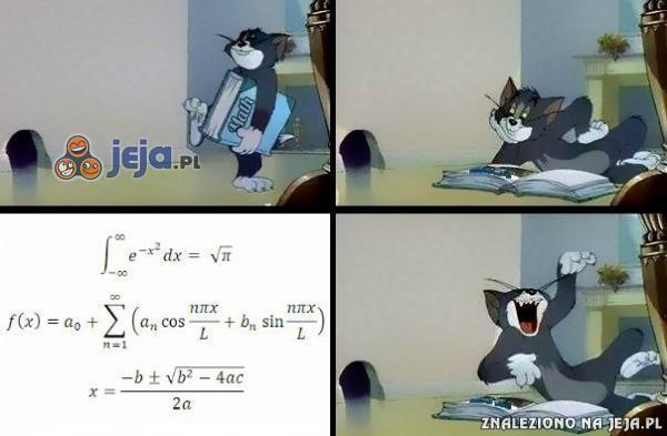 Gdy patrzę na zadanie z matematyki