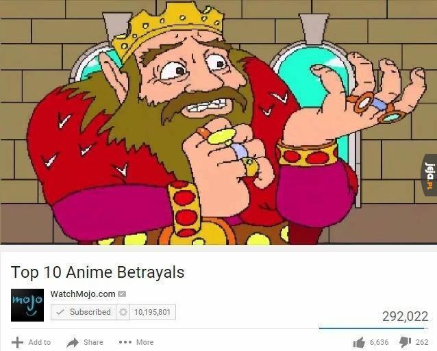 Najlepsze zdrady w anime