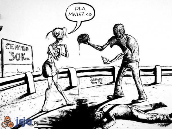 Blondynka w wersji zombie