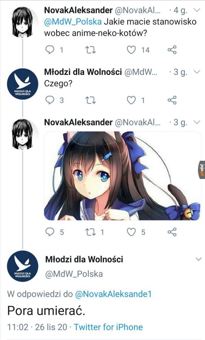 MDW nie lubi anime