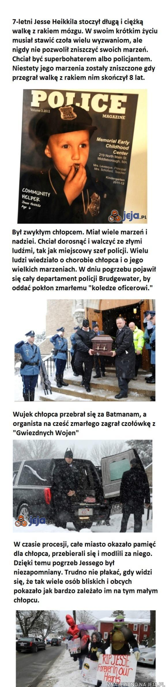 Ceremonia pogrzebowa 7-latka