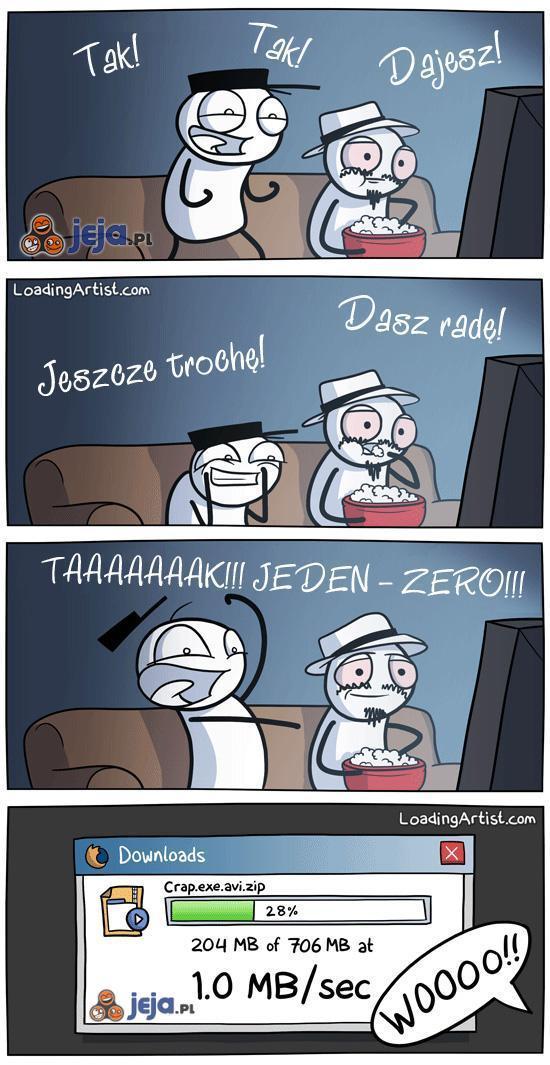 Jeden - zero!