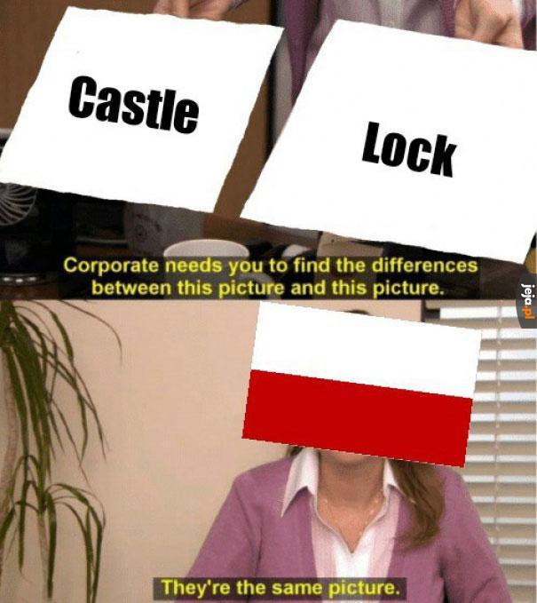 Zaklucz zamek, bo go nieprzyjaciel najedzie w rozporku