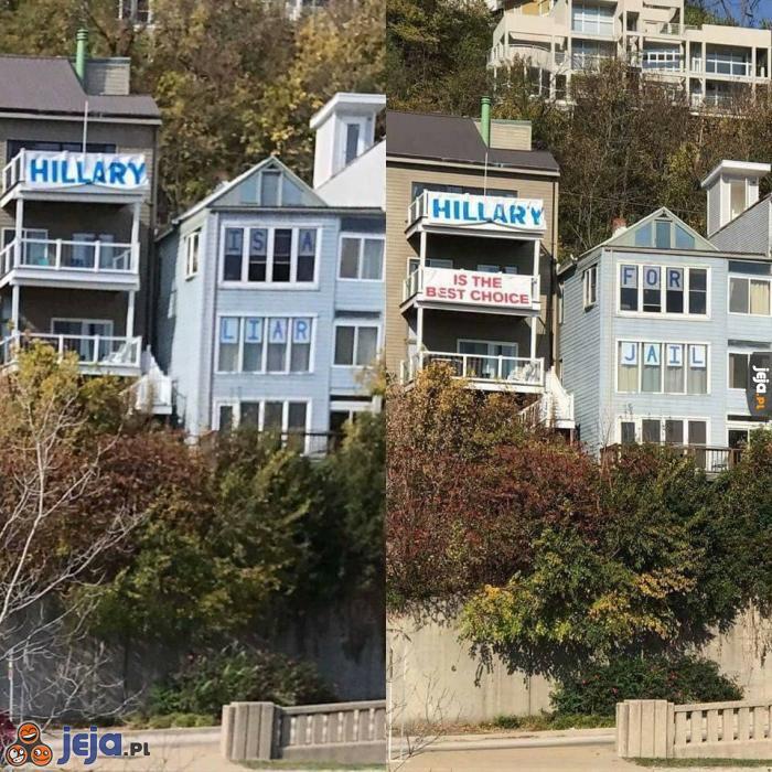Wyborcy Clinton vs wyborcy Trumpa
