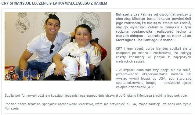 Cristiano Ronaldo charytatywnie