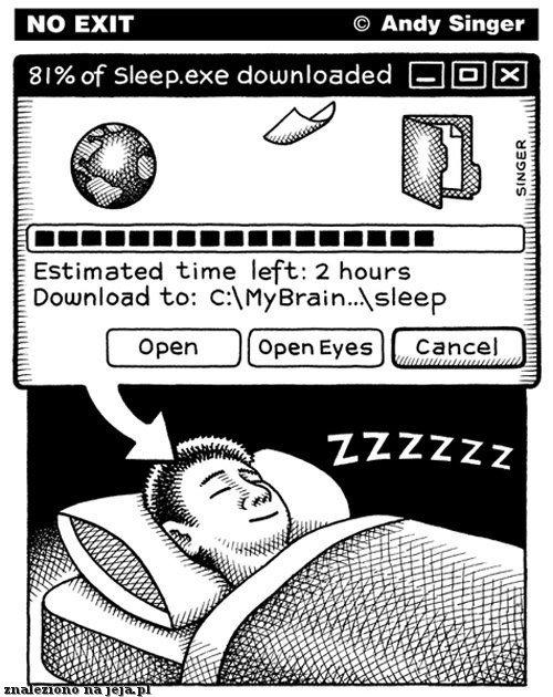 Ściąganie snu