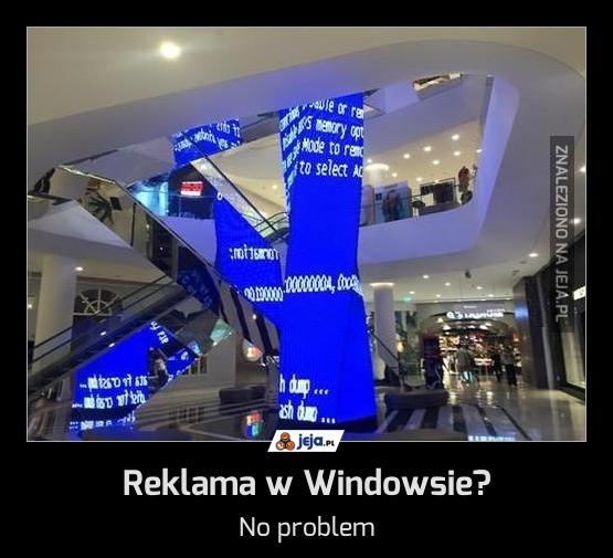 Reklama w Windowsie?