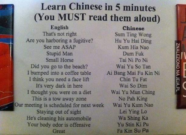 Chiński w 5 minut