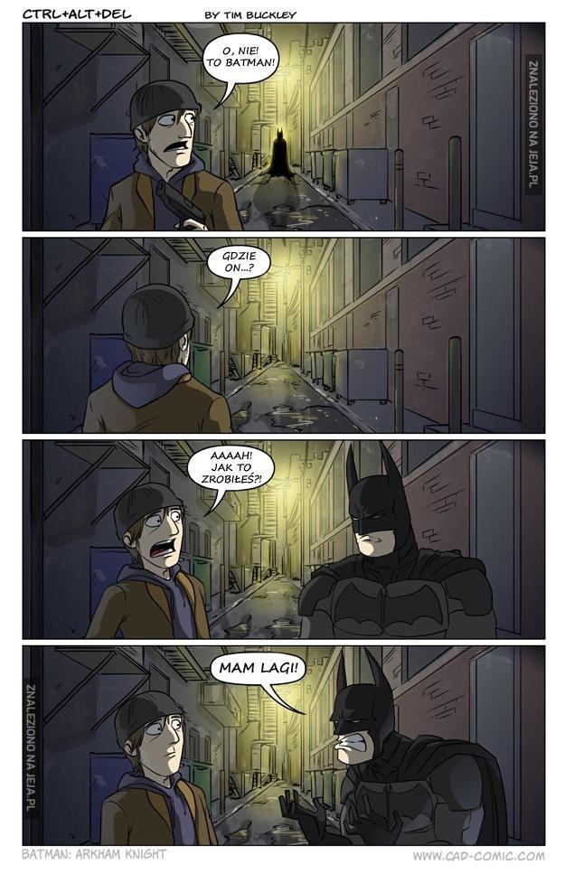 Nawet Batman miewa problemy z internetem