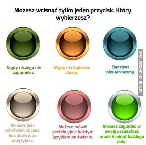 Możesz wcisnąć tylko jeden przycisk. Który wybierzesz?