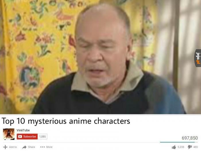 Top 10 tajemniczych postaci z anime