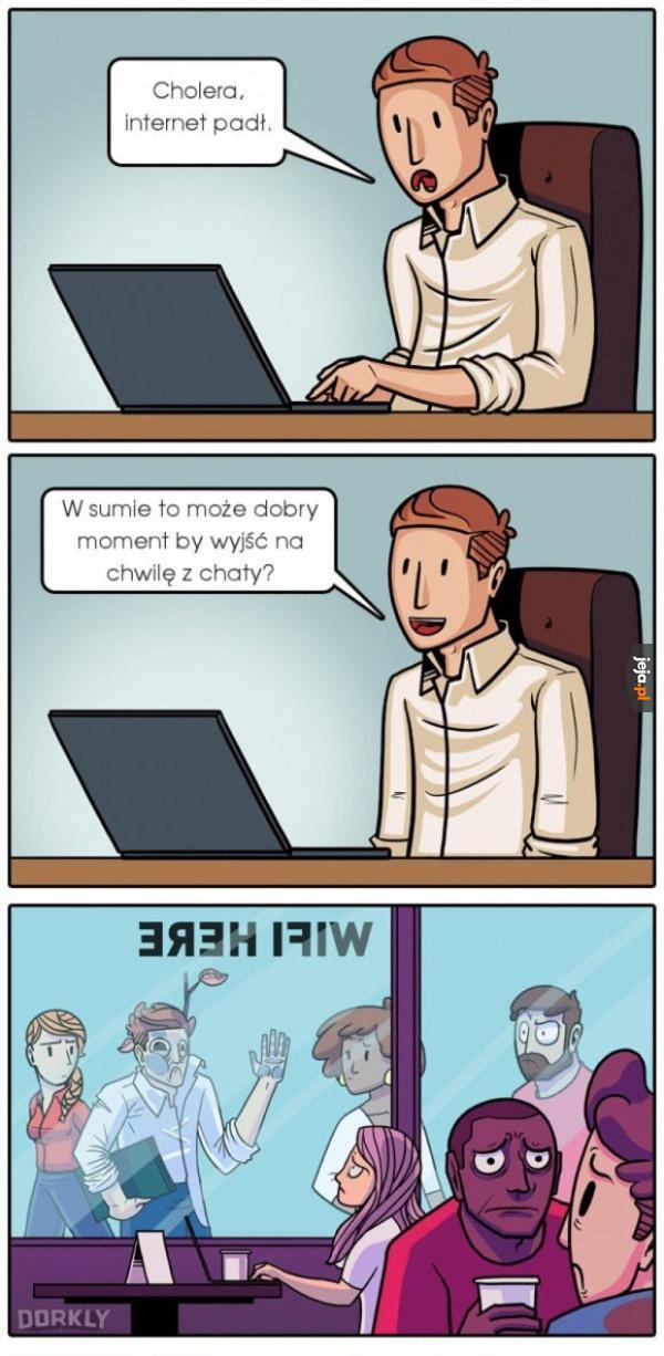 Gdy zabraknie internetu