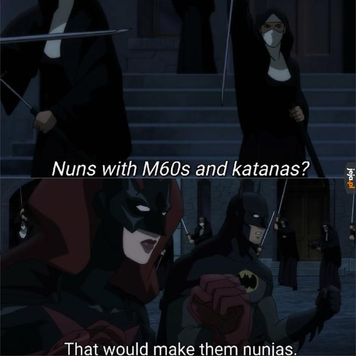 Batman czasem błyśnie żartem