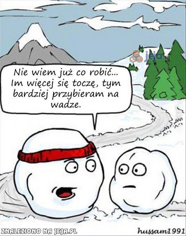 Śnieżne problemy z nadwagą