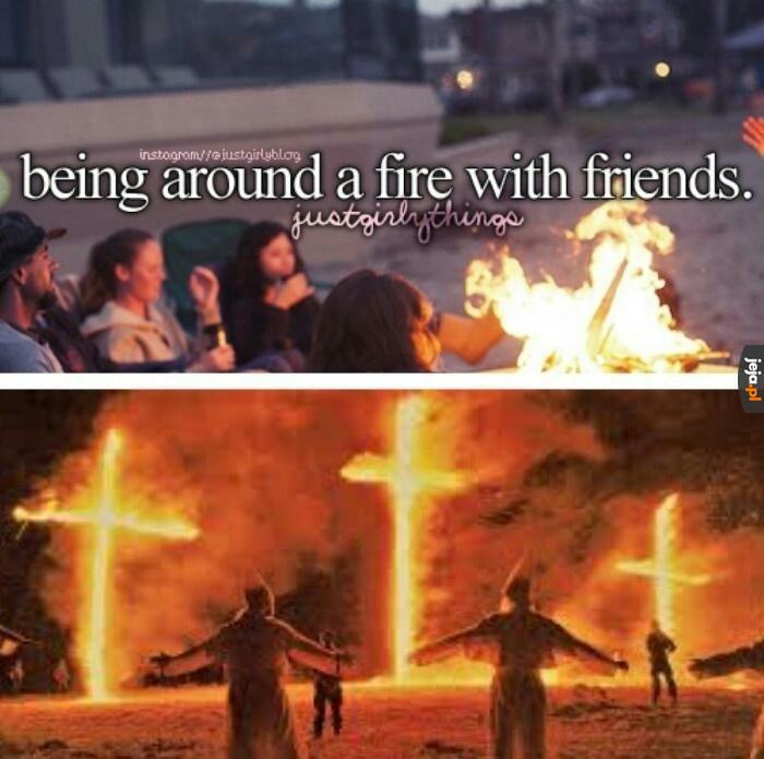 Ogniska z przyjaciółmi
