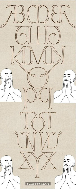 Idealnie symetryczny alfabet