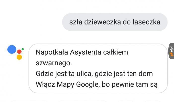 Asystent Google to śmieszek