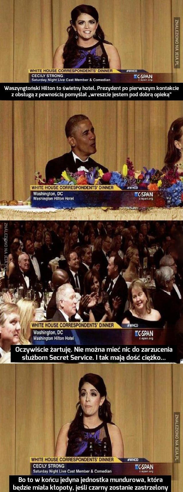 Cecily Strong o ochronie Baracka Obamy