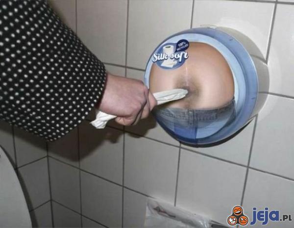 Reklama papieru toaletowego...