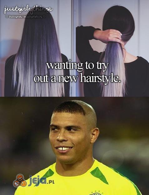 Próbowanie nowej fryzury
