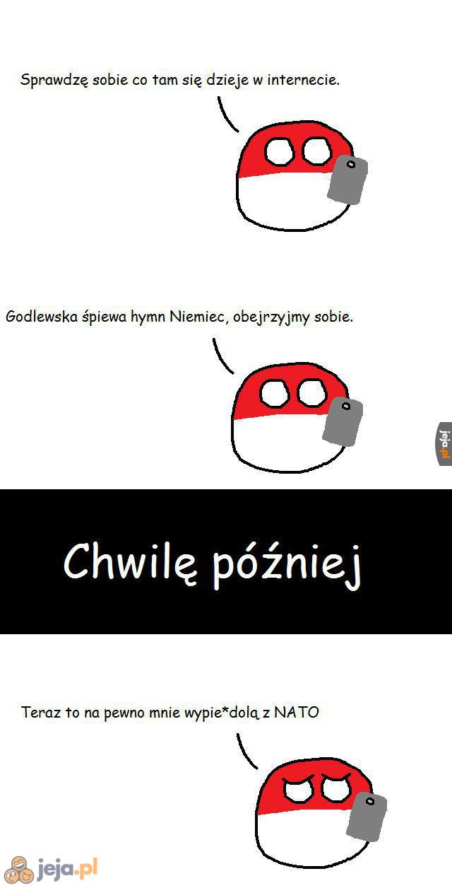 Polandball ogląda Godlewską
