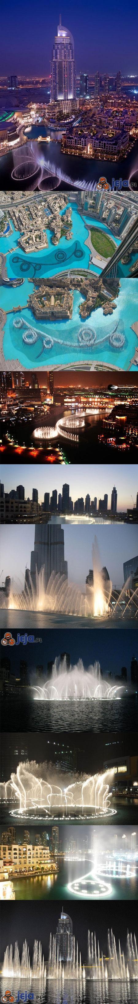 Wspaniałe fontanny Dubaju