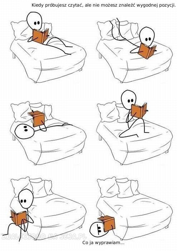 Kiedy próbujesz czytać