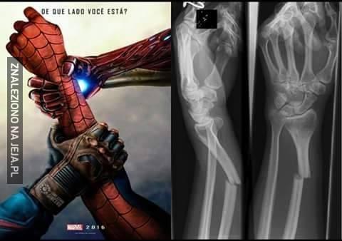 Biedny Spiderman