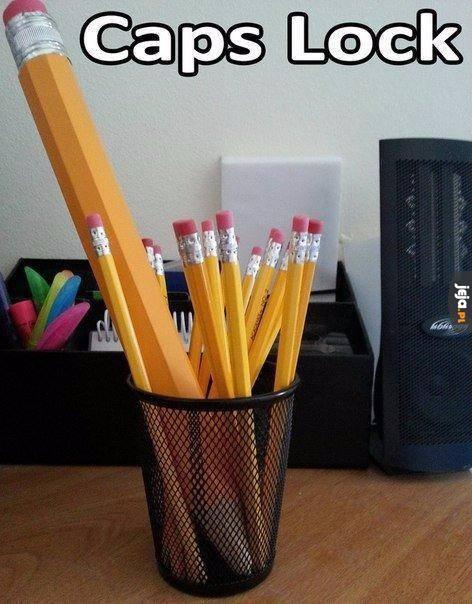Dużym ołówkiem