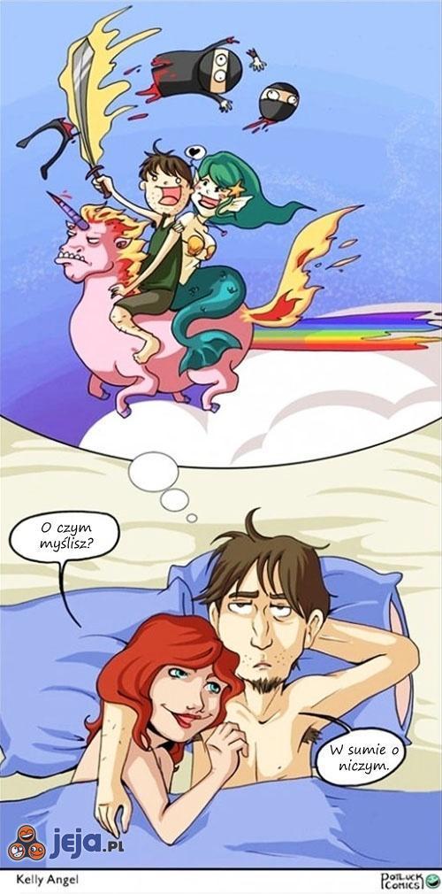 Rozmyślanie w łóżku