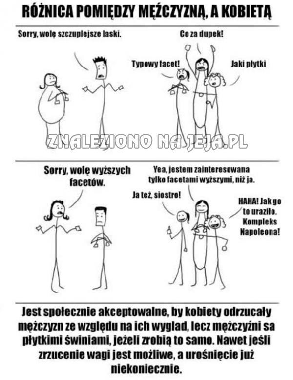 92c173270e9be6 Różnica pomiędzy mężczyzną, a kobietą - Jeja.pl