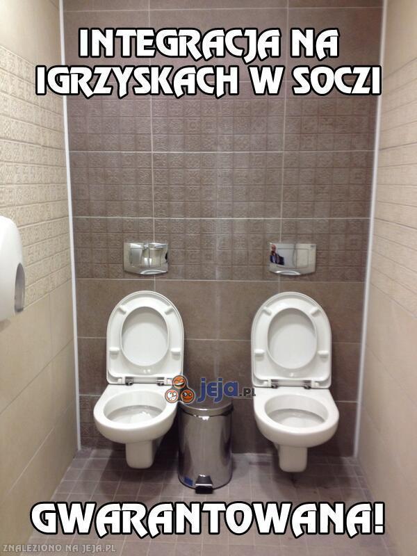 Męska toaleta na Igrzyskach w Soczi