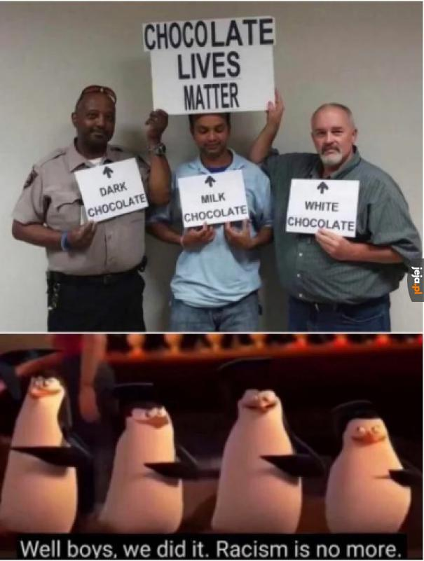 I cyk koniec, rasizmu