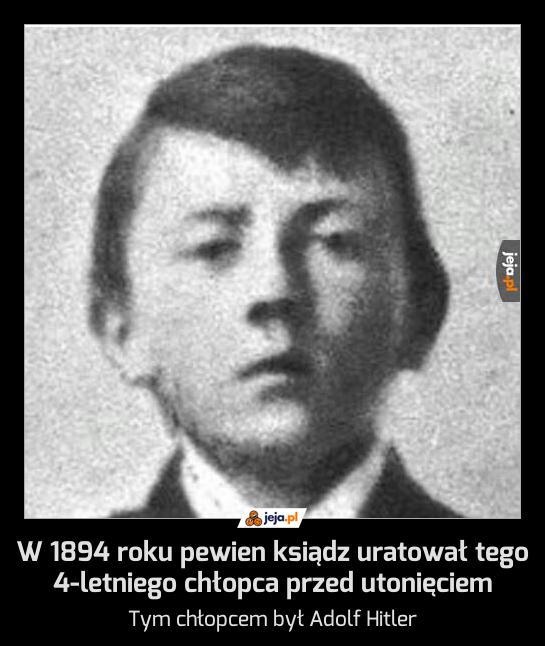 W 1894 roku pewien ksiądz uratował tego 4-letniego chłopca przed utonięciem