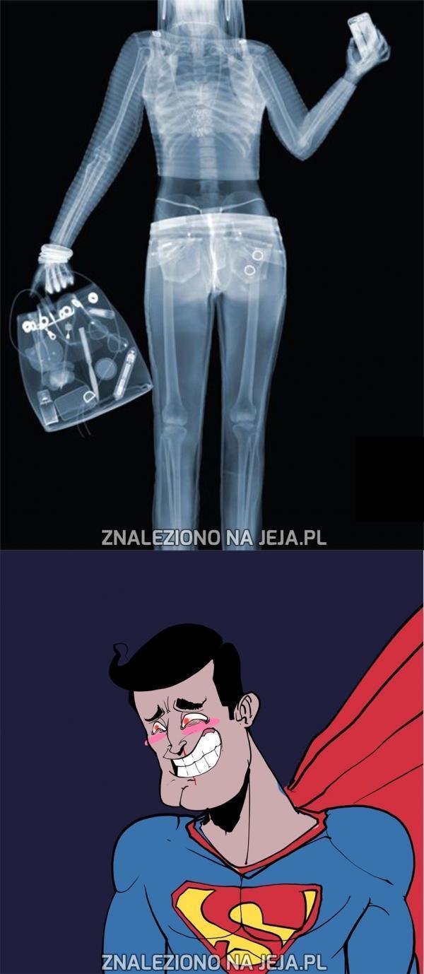 Superman i jego rentgen w oczach