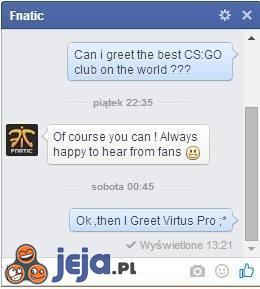 Pozdrowienia dla Virtus Pro