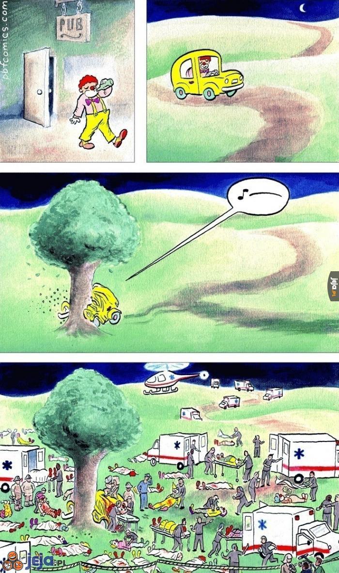 Wypadek klauna