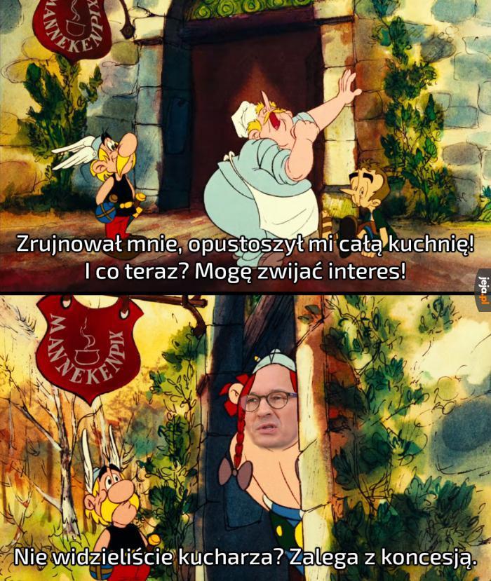 Morawiecki, przestań mi kucharza prześladować