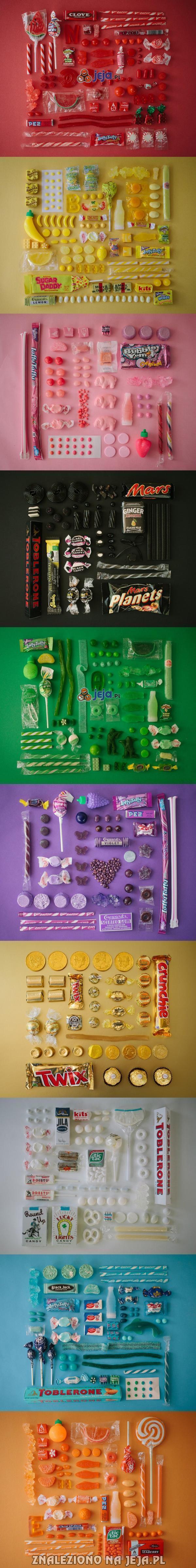 Kolorowe słodycze